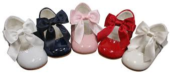couche tot leather mary jane bow baby girl toddler shoes hard soled zoom