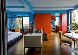 Colorful paint color schemes studio apartment decor ideas