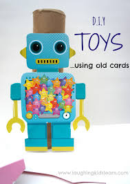 diy toys using recycled cards and imaginative play