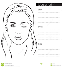 Makeup Artist Face Charts The Beauty Studio Collection Beautiful Woman Portrait Face Chart Makeup Artist Blank