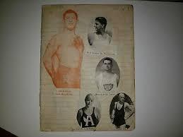 Abe Kaplan Wrestler Mendell Burditt Byron Summers 1929 Scrapbook Sheet  Collage   eBay
