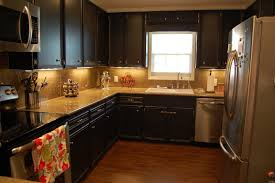 kitchens with painted black cabinets. Delighful Kitchens Interior Black Cabinet Paint Popular Kitchen Carmel Distressed Painting  Oak Cabinets For 10 From In Kitchens With Painted I
