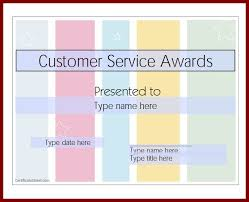 customer service award template customer service certificate template mandegar info