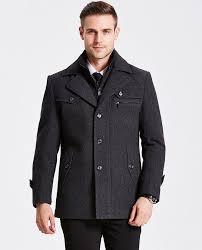 winter jacket men thickening wool coat slim fit jackets fashion outerwear warm man casual jacket overcoat pea