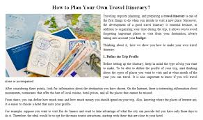 what is a travel itinerary how to plan your own travel itinerary by roxana 4521