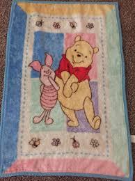 Winnie Pooh BABY BLANKET Piglet Bear Butterflies pink plush blue ... & Winnie Pooh BABY BLANKET Piglet Bear Butterflies pink plush blue 30X45