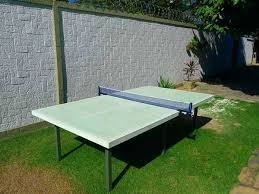 table ping pong outdoor green concrete plans elegant