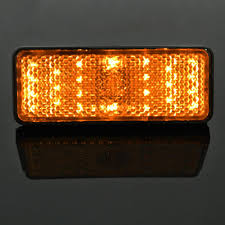 Car Turn Signal Lights 2019 1 Amber Led Rectangle Reflector Turn Signal Light Universal Motorcycle Car Auto From Goree86 2 02 Dhgate Com
