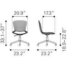 wire office chair chrome w white cushion