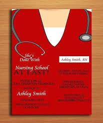 Nursing Graduation Party Invitations Nursing School Graduation Party Announcement Nurse Party