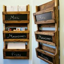 wood letter holder wall mounted accessories ikea book boxes and wall file organizer also wall