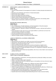 School Principal Resume Samples Velvet Jobs