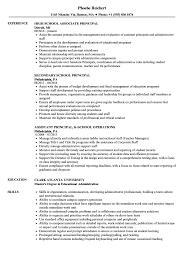 Assistant Principal Resume Sample School Principal Resume Samples Velvet Jobs 11