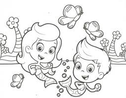 Small Picture Free Bubble Guppies Molly And Gil Coloring Page To Print Nick Jr