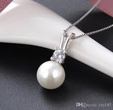 natural freshwater pearl jewelry 925 sterling silver pendant necklace women jewelry women simple chain link nz 2019 from cxy187 nz 1 9 dhgate nz