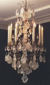 rock crystal chandelier parts