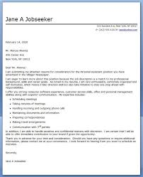Personal Assistant Cover Letter Sample | Creative Resume Design ...