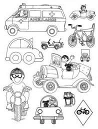 Small Picture Land Transportation Coloring Pages for Kids Preschool and