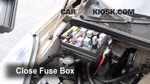 blown fuse check buick rendezvous buick 6 replace cover secure the cover and test component