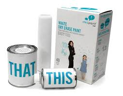 home white. IdeaPaint HOME - White Dry Erase Paint Kit, 40 Sq Ft Dearborn Supply Home