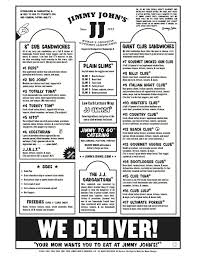 Jimmy Johns Nutrition Chart 2019