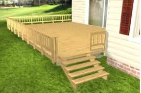 wooden deck railing computer graphic handrails