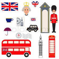 Traditional Symbols England Vector Traditional Symbols Tourist Souvenir Guide Icons