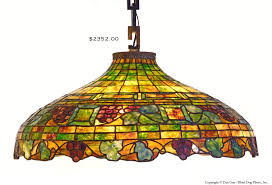 antique stained glass chandelier and leaded fruit motif ca 1890 sold