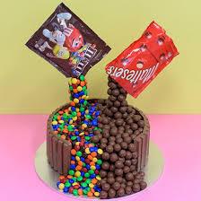 Chocolate Fountain Custom Birthday Cake