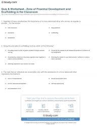 Scaffolding Definition Vygotsky Quiz Worksheet Zone Of Proximal Development And