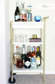 Bar Cart Style: Tips on Styling and Stocking a Home Bar | Ikea cart, Bar  carts and Ikea hack