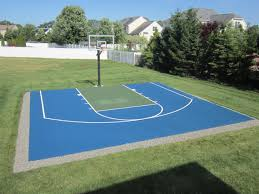 amazing ideas outdoor basketball court cost best 1000 images about basketball on court home