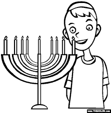 Small Picture Hanukkah Online Coloring Pages Page 1