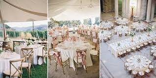 wedding reception table setting layout ideas