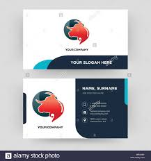 Stock Design Modern Alamy Image For amp; Identity Vector Visiting Company And - Card Your Art Creative Clean Business Taurus 186468463 Template Illustration Professional