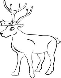 Small Picture FREE Printable Reindeer Coloring Page for Kids 1