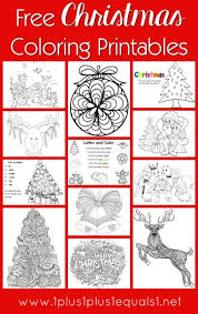 Christmas Coloring Paper Free Christmas Coloring Pages For Kids Adults 1 1 1 1