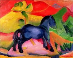 little blue horse painting franz marc little blue horse art painting