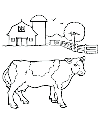 Barn Coloring Pages To Print Directory Horse Printable Cow Free