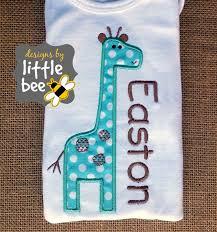 Little Boy Applique Designs Baby Giraffe Applique
