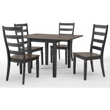 Back Home Furniture Inspiration Intercon Glennwood 48 Piece Drop Leaf Table And Ladder Back Chair Set