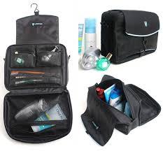 mens black toletry bag travel outdoor hangng foldable best travel shower bag