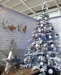 Grey Christmas Tree Urban Christmas Tree Design With A Blue Grey And White Colour