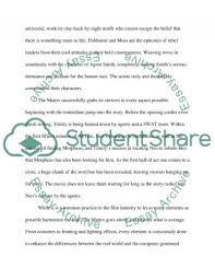 the matrix film review movie example topics and well written the matrix film review essay example