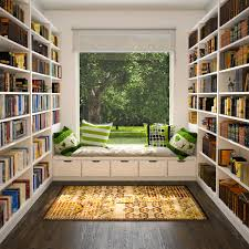 Home Library Reading Nook Stuff To Buy Pinterest Seat Storage Library