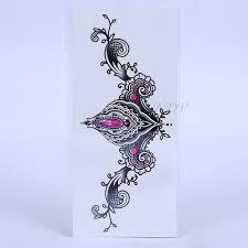 Vodotěsné Dočasné Tattoo Samolepka Lotus Totem Na Prsou Mandala