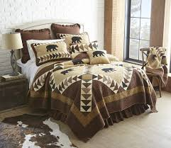 woodcut bear quilts throws shams pillows and accessories by donna sharp