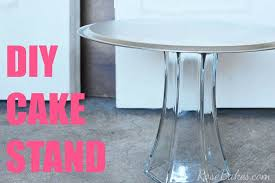 a quick easy diy cake stand