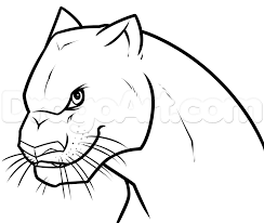 drawing bagheera from the jungle book