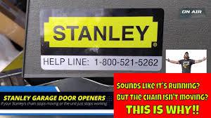 stanley garage door opener not working this could be why